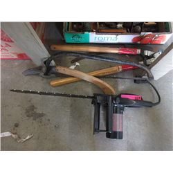 Electric Chainsaw, Swede Saw, Pruners & More