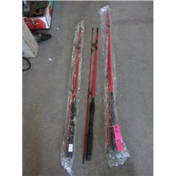 3 New Lucky Strike Graphite Fishing Rods