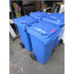 2 Schaefer Rolling Recycle Bins