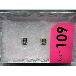 New 2.5 CT Blue Mystic Topaz & Diamond Earrings
