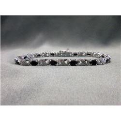Ladies Sapphire & Diamond Tennis Bracelet