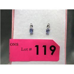 New Diamond & Tanzanite Stud Earrings