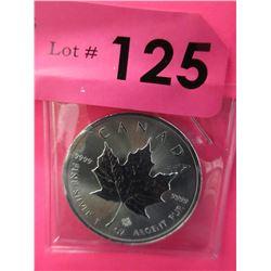 1 Oz. .9999 Fine Silver Canada Maple Leaf Coin