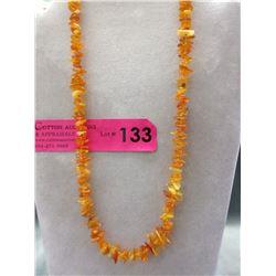 Orange Baltic Amber Necklace
