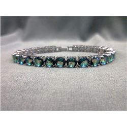 30 CT Ocean Blue Mystic Topaz Bracelet