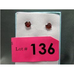 New Garnet Stud Earrings