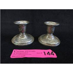 """Pair of Birks Sterling 2.5"""" Candle Holders"""
