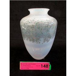 Signed Martha Henry Iridescent Art Glass Vase