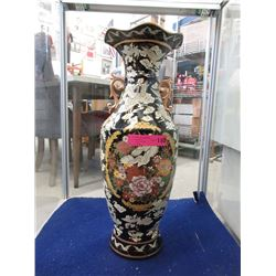 Large Painted porcelain l Display Vase