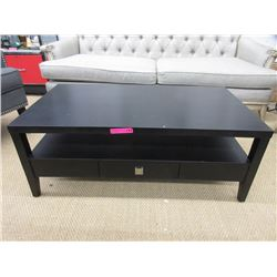 New Wood Coffee Table with Shelf & Drawer