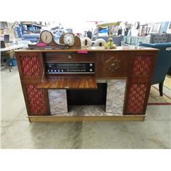 1970's Koronette Faux Fireplace All-In-One Stereo