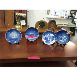 4 Royal Copenhagen Christmas Plates