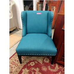 New Stylus Fabric Upholstered Wing Back Chair