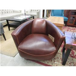 New LH Imports Lannister Leather Swivel Club Chair