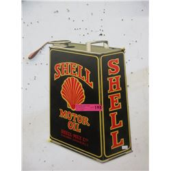 Tin Shell Old Sign