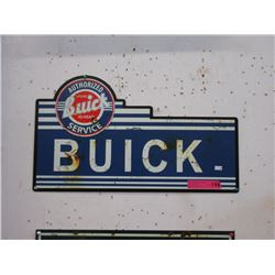 New Metal Buick Sign with Vintage Image