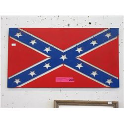 Sheet Metal Confederate Flag Sign