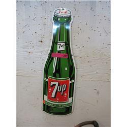 Enameled 7up Bottle Sign