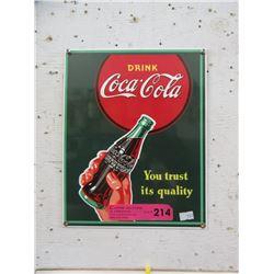 Enameled Coca-Cola Sign