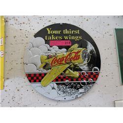 Embossed Metal Coca-Cola Sign