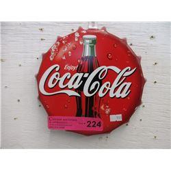 Coca-Cola Bottle Cap Sign