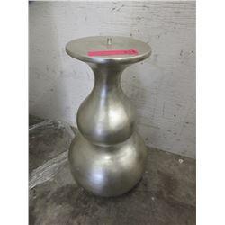Silver Tone Wood End Table Base