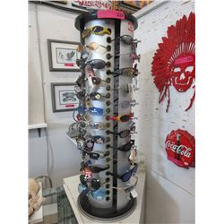 Retail Rotating Sunglass Display with Glasses
