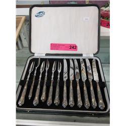 Sterling Silver Handled Fruit Knife Set
