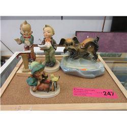 1 Hummel & 3 Japanese Figurines