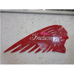 Sheet Metal Indian Motorcycle Sign