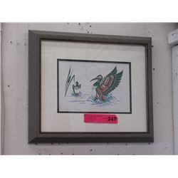 "Richard Shorty Framed Print ""Loon's Mates"""