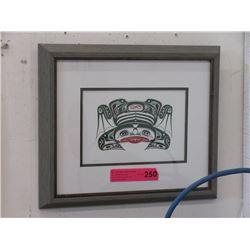 "Richard Shorty Framed Print ""Frog"""