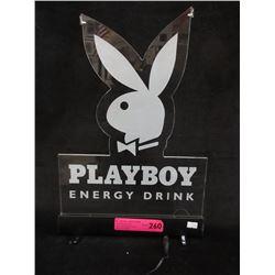 New Illuminated Playboy Energy Drink Sign