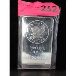 10 Oz. Sunshine Minting .999 Silver Bar