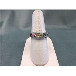 14KT White Gold EFFY Sapphire & Diamond Ring