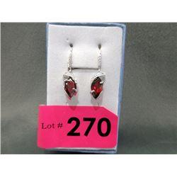 New Diamond & Garnet Dangle Earrings