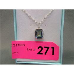 Ocean Blue Mystic Topaz & Diamond Necklace