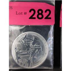 1 Oz. NiueStormTrooper.999 Silver Coin