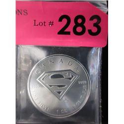 1Oz. CDA SupermanS-Shield.9999 Silver Coin