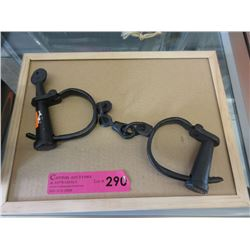 Cast Iron Shackles with Key