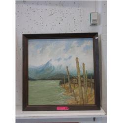 1970 J.D. Hallam Original Oil on Board Painting