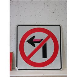 """No Left Turn"" Road Sign"