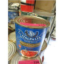 6 x 100 Oz Tins of Italpasta Whole Peeled Tomatoes