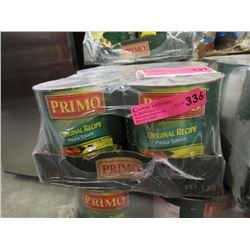 6 x 100 Ounce Tins of Primo Pasta Sauce