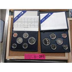 2 Royal Canadian Mint Specimen Coin Sets