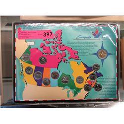 Canada 125  Loonie & Provincial Quarter Set