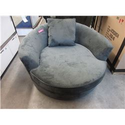 Green Fabric Upholstered Cuddler Chair