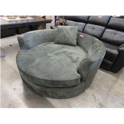 New Green Upholstered Cuddler Chair