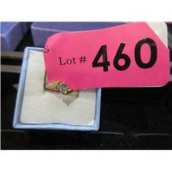 10KT Gold Aqua Marine Ring - Size 5
