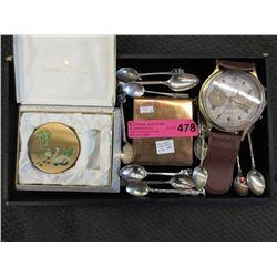 Vintage Compact, Cigarette Case Alarm and More
